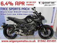 YAMAHA MT-09 WITH FREE SPORTS PACK... SCREEN, BILLET CLUTCH LEVER, BRAKE LEVER..