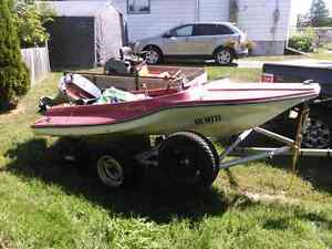 Speed boat an trailer for sale$2500obo/trade  Peterborough Peterborough Area image 4