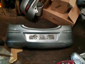 Rear bumper vauxhall Corsa light blue grey 2013