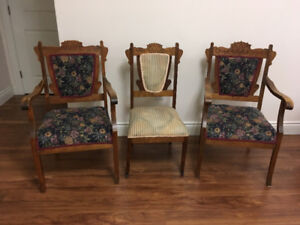 Antique chairs set of 3