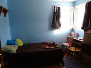 large main floor furnished room available mid april