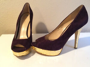 Purple and Gold Heels by Enzo Angiolini