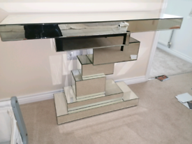 Mirrored Console Table/ Unit