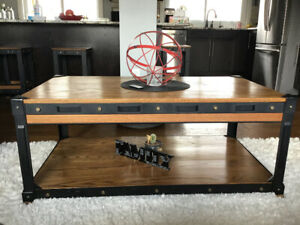 Metal/Oak Coffee and end tables