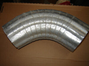 "6"" galvanized corrugated elbows 75 degree"