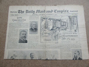 NEWSPAPER TORONTO DAILY MAIL & EMPIRE Nov. 2, 1895 LONDON