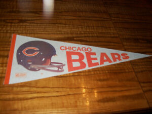 Sports Memorabilia Pennants Vintage Chicago Bears NFL