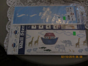 New 4 Assorted Stencils.. Noah'a Ark birdhouses,Numbers&Carousel