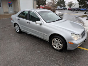 2001 Mercedes C240, 129,000 km, winter tires included.