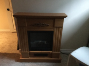 Heating electric fire place