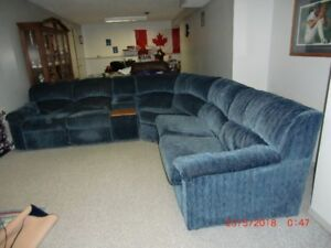 Sectional  Couch with hide -a bed