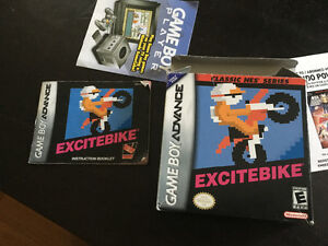 Excitebike box and manual