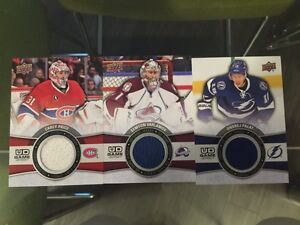 3, 15-16 UD GAME JERSEY CARDS INCL. PRICE, VARLAMOV & PALAT