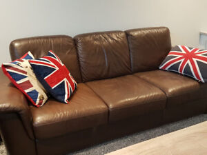 Leather Sofa with Loveseat - Scan Design