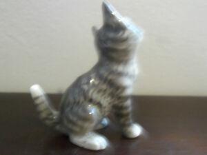 Geobel W. Germany Tabby Cat Figurine numbered #31005 Prince George British Columbia image 2