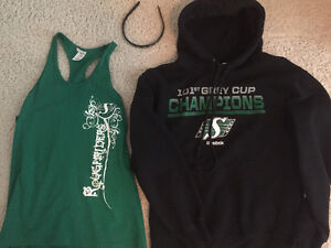 Ladies roughrider tank, hoodie and headband