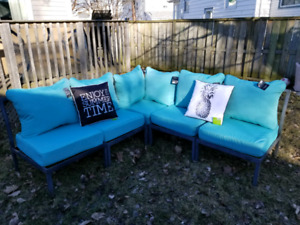 5 PC metal sectional couch