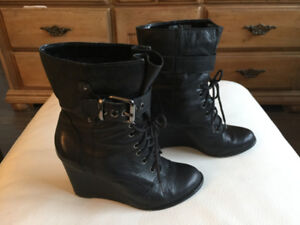 Leather Lace-Up Boots (Kenneth Cole)