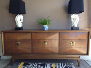 Diamond front Midcentury Dresser Sideboard ( delivery available)