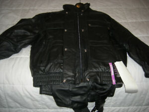 ladies leather ski snowmobile suit