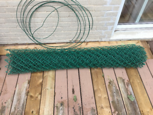 20'-22' green chain link fence