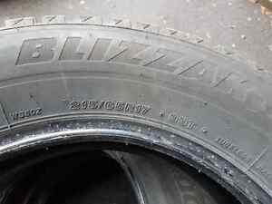 4 Bridgestone Blizzak WS80 Winter Tires - like new London Ontario image 1