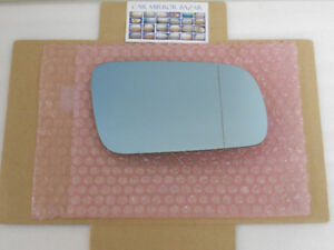 P-501R HEATED BLUE Mirror Glass for Audi VW Passenger Side Right