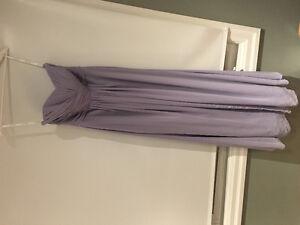 David's Bridal Strapless Bridesmaid Dress