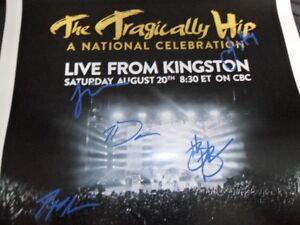 the tragically hip signed[rp] last concert poster