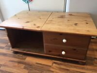 Solid pine Tv cabinet / coffee table painting project