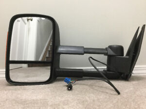 DRIVERS SIDE 2007 -2014 CHEV GMC TRUCK TELESCOPING TOWING MIRROR