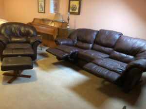 Leather Couch & Chair