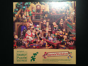 PUZZLES-ASSORTED-SANTA'S WORK SHOP AND MORE
