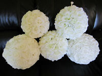 Wedding Decorations - Ivory Rose Balls and More! Buy or Rent