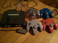 N64 with remote & games sold separate