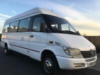 MERCEDES BENZ SPRINTER 411 CDI + LWB + TWIN WHEELS + HIGH ROOF 17 SEATER MINIBUS