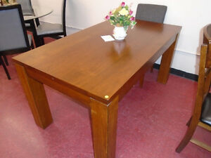 SOLID WOOD DINING TABLE, NO CHAIRS