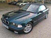 1999 BMW 328 E36 CONVERTIBLE RARE INDIVIDUAL BOSTON GREEN 88K MILES AUTO M3 330