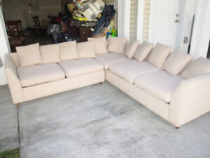 Cream colored cloth sectional