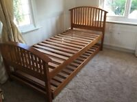 Solid hardwood single bed/guest bed