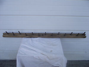 Antique Hand Forged Square Spike Harrow Hat Coat Rack