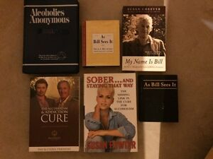 AS BILL SEES IT and various alcoholism books