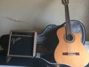 Fender classic guitar and amp