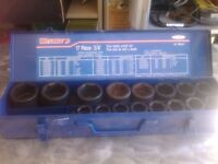 3/4 drive impact sockets 7/8 to 2inch, 17pc