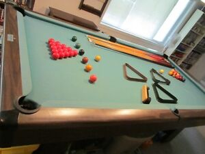 Slate Brunswick Pool Table (8 by 4) - Plus Ping Pong Table