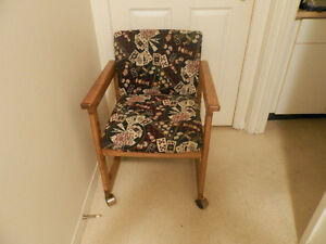 Wooden frame chair on