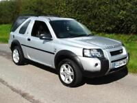 2004 LAND ROVER FREELANDER 2.0TD4 SE 4X4 AUTO, SILVER, BLACK LEATHER, AIRCON