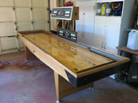 12' REGULATION SHUFFLEBOARD TABLE WITH ELECTRONIC SCORE BOARD