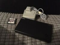 Black Nintendo dsi with Pokemon platinum