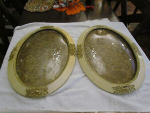 Oval Frames with Bubble Glass- Excellent Condition & Patina
